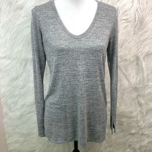 GAP Gray Thin Sweater Tunic V-Neck Women's